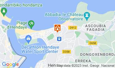 Mapa Hendaye Apartamentos 54924