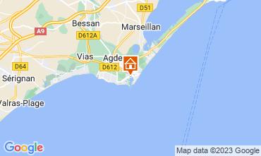 Mapa Cap d'Agde Apartamentos 112300