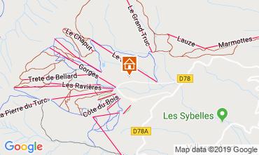 Mapa La Toussuire Chalé 112290