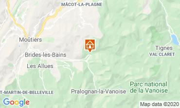 Mapa Champagny en Vanoise Apartamentos 102107