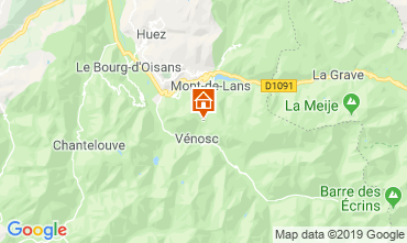 Mapa Les 2 Alpes Apartamentos 79997