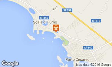 Mapa Porto Cesareo Apartamentos 97328