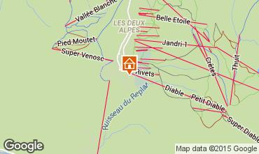 Mapa Les 2 Alpes Apartamentos 65681