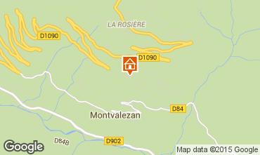 Mapa La Rosière 1850 Apartamentos 82857