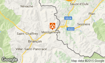 Mapa Montgenevre Apartamentos 45145