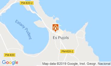 Mapa Es Pujols Apartamentos 75247
