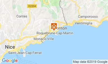 Mapa Menton Apartamentos 117812