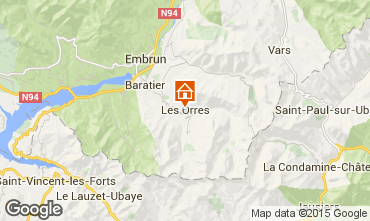 Mapa Les Orres Apartamentos 26650