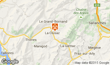 Mapa La Clusaz Apartamentos 80429