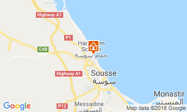 Mapa Sousse Apartamentos 117128