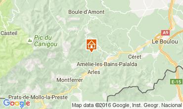 Mapa Amélie-Les-Bains Estúdio 92940