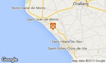 Mapa Saint Jean de Monts Mobil Home 60835