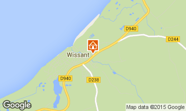 Mapa Wissant Casa de turismo rural/Casa de campo 32131