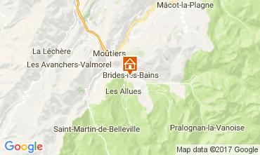 Mapa Brides Les Bains Apartamentos 107507