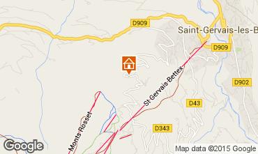 Mapa Saint Gervais Mont-Blanc Chalé 68082