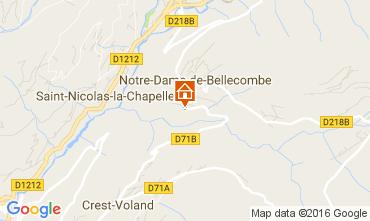 Mapa Notre Dame de Bellecombe Apartamentos 2023