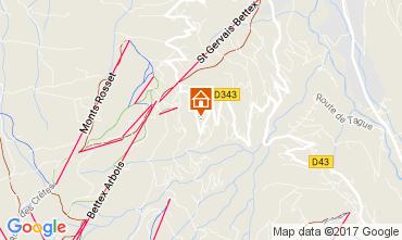 Mapa Saint Gervais Mont-Blanc Estúdio 69949