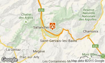 Mapa Chamonix Mont-Blanc Chalé 651