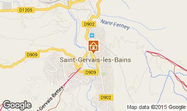 Mapa Saint Gervais Mont-Blanc Chalé 36087