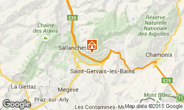 Mapa Chamonix Mont-Blanc Chalé 649