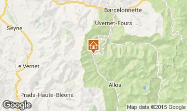 Mapa Val d'Allos Estúdio 3194