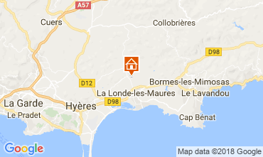 Mapa La Londe les Maures Casa de turismo rural/Casa de campo 114425