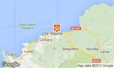 Mapa Location Ile Rousse Apartamentos 64700