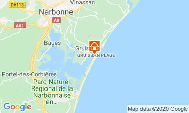 Mapa Gruissan-Plage Chalé 113568