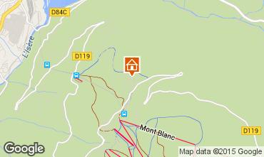 Mapa Les Arcs Chalé 322