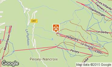Mapa Peisey-Vallandry Apartamentos 90871