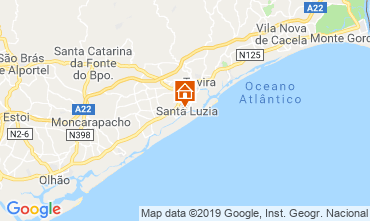 Mapa Tavira Apartamentos 118814