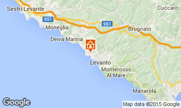 Mapa Bonassola Apartamentos 51375