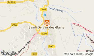 Mapa Saint Gervais Mont-Blanc Apartamentos 2561