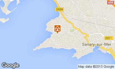 Mapa Sanary Apartamentos 73349