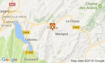 Mapa La Clusaz Casa de turismo rural/Casa de campo 112920