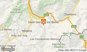 Mapa Saint-Gervais-les-Bains Apartamentos 2555