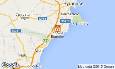 Mapa Fontane Bianche Vivenda 77117