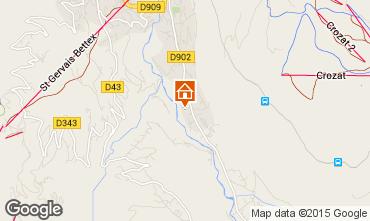 Mapa Saint Gervais Mont-Blanc Apartamentos 58539
