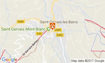 Mapa Saint Gervais Mont-Blanc Apartamentos 112570