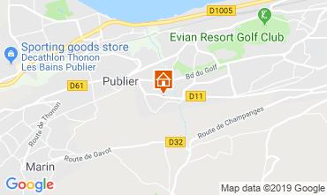 Mapa Evian les Bains Apartamentos 106719