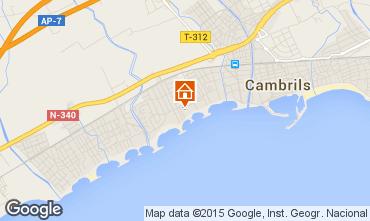 Mapa Cambrils Apartamentos 9716