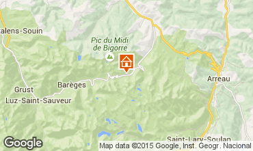 Mapa La Mongie Apartamentos 59557
