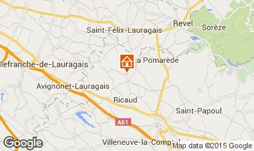 Mapa Carcassonne Casa de turismo rural/Casa de campo 84754