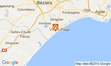 Mapa Valras-Praia Apartamentos 106263