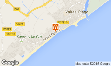 Mapa Valras-Praia Apartamentos 10168