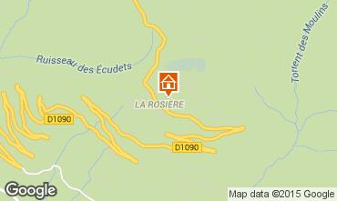Mapa La Rosière 1850 Apartamentos 100636