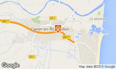 Mapa Canet-en-Roussillon Apartamentos 102199