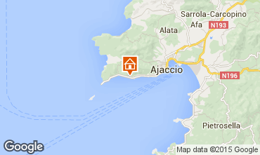 Mapa Ajaccio Apartamentos 7850