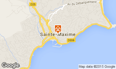 Mapa Sainte Maxime Apartamentos 87179