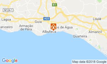 Mapa Praia da Oura Apartamentos 116116